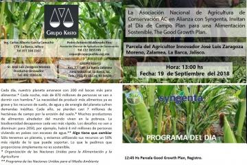 En Zalamea, La Barca, Jalisco, ANAC AC en Alianza con Syngenta presentan experiencias en Agricultura de conservación en Maíz