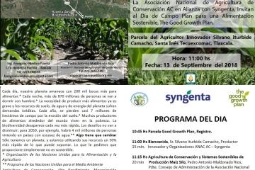 Tlaxcala y Puebla Agricultura de Conservación Eventos Septiembre.